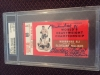 Muhammad Ali autographed boxing ticket