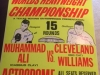 Muhammad Ali signed fight poster