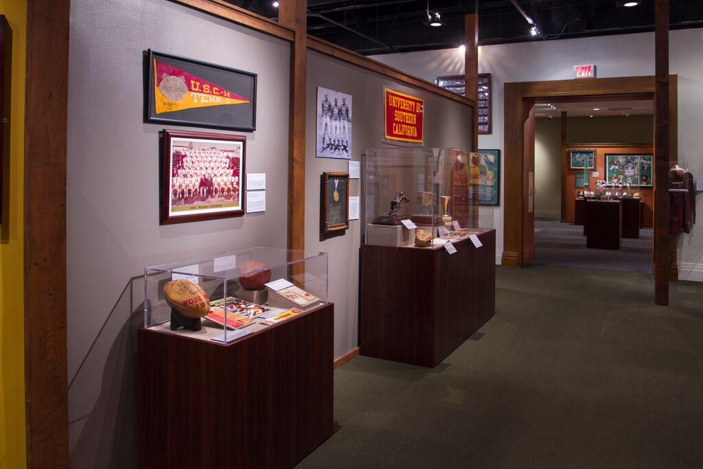 USC-UCLA memorabilia Reagan Library