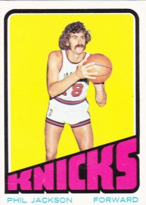 Phil Jackson 1972-73 rookie card
