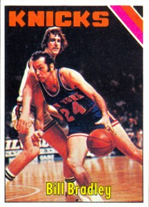 Bill Bradley 1975-76 Topps card