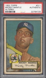 Mantle 1952 Topps Authentic
