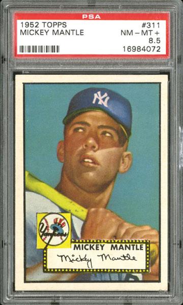 Mickey Mantle 1952 Topps baseball card