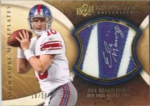 2009 NFL Exquisite Nameplates Manning