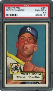 1952 Topps Mickey Mantle PSA 8.5