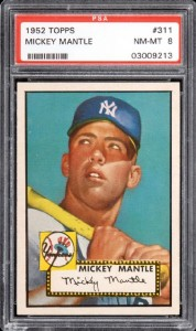 1952 Topps Mickey Mantle PSA 8