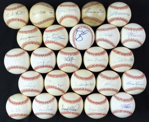 Dmitri Young signed baseballs collection
