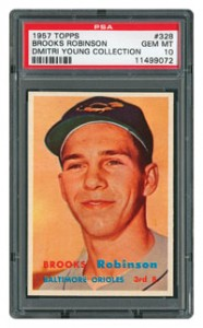 1957 Topps Brooks Robinson PSA 10