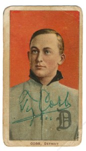 Signed T206 Ty Cobb