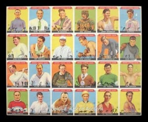1933 Sport Kings uncut sheet
