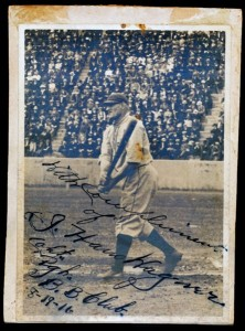 Honus Wagner signed photo