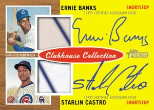 Heritage Baseball Clubhouse Collection Dual Auto Relic