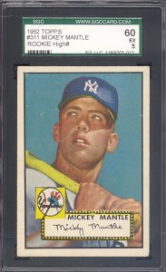 1952 Topps Mickey Mantle sold by Just Collect