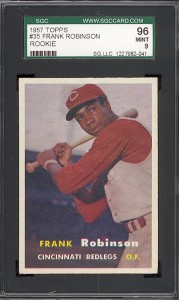 1957 Topps Frank Robinson rookie card