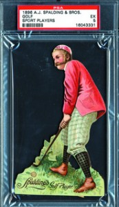 1896 A.J. Spalding golf card