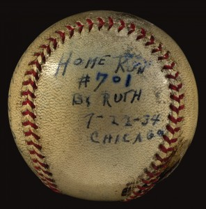 Babe Ruth 702nd home run ball