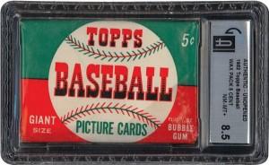 1952 Topps pack GAI 8.5