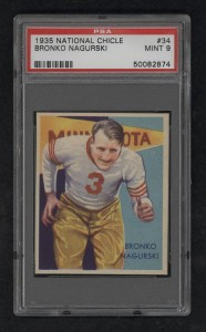1935 National  Chicle Nagurski PSA9