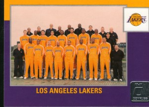 Lakers team card 2010 Donruss