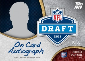 Topps Rising Rookies Football 2011 NFL  Draft Auto TBD