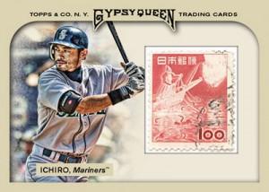 Ichiro stamp 2010 Topps Gypsy Queen