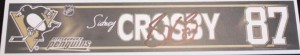 Signed Sidney Crosby locker name plate