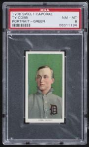 T206 Ty Cobb green portrait