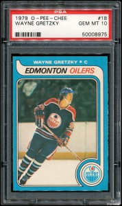 Wayne Gretzky rookie card OPC PSA 10