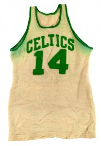 Game worn Cousy Celtics jersey