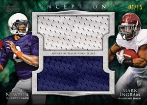 Cam Newton-Mark Ingram 2011 Topps Inception