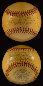 Autographed Babe Ruth baseball