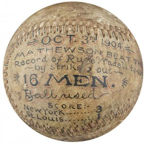 Mathewson 16 strikeout ball