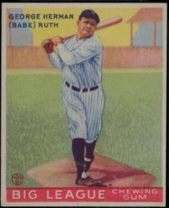 Babe Ruth 1933 Goudey