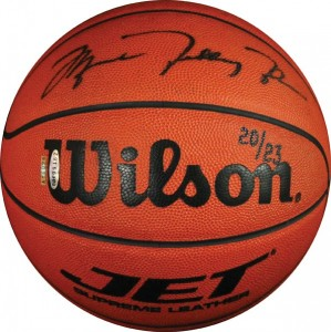 Full name Michael Jordan autographed basketball