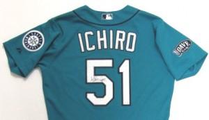 Game worn Ichiro jersey autographed