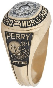Super Bowl XX Bears William Perry ring