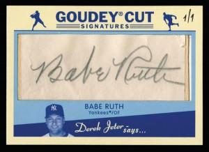 Goudey cut Babe Ruth autograph