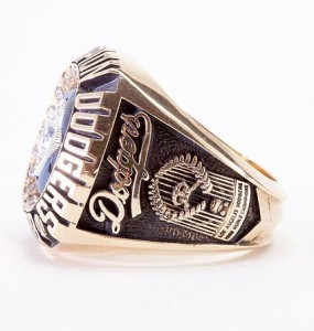 Salesmans sample Dodgers World Series ring