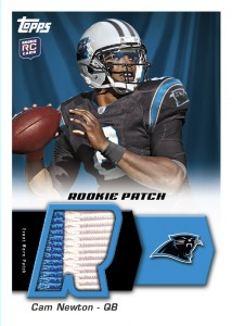Cam Newton 2011 Topps rookie patch card