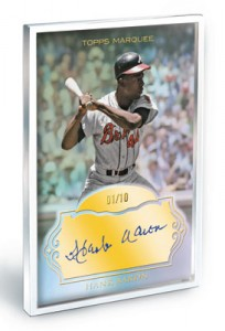 Hank Aaron autographed Topps Marquee Museum Collection