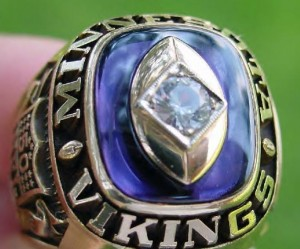 Salesmans sample Vikings championship ring