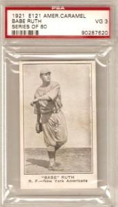 Babe Ruth 1921 American Caramel
