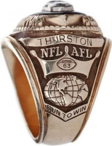 Fuzzy Thurston Super Bowl II ring