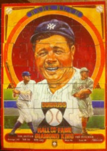Babe Ruth puzzle 1982 Donruss