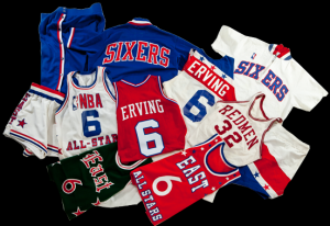 Game worn Julius Erving items