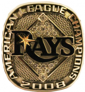 Rays American League Championship ring