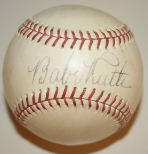 Signed Babe Ruth baseball