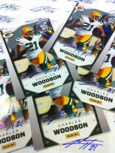 Autographed Charles Woodson cards