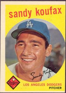 Sandy Koufax 1959 Topps