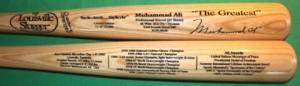 Louisville Slugger Muhammad Ali bat